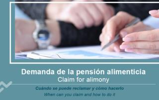 Demanda de la pensión alimenticia